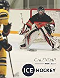 Ice Hockey Calendar 2021-2022: Great 18-month Grid Calendar from Jan 2021 to Jun 2022 for all fans!!!