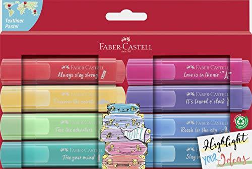 Faber-Castell 254626 - Evidenziatore TL 46, pastello Promo con confezione da 8
