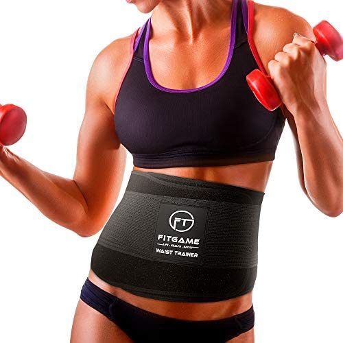 FITGAME Waist Trimmer Trainer Slim Belt for Men Women Stomach Body Sweat Waist Wrap with Double product image