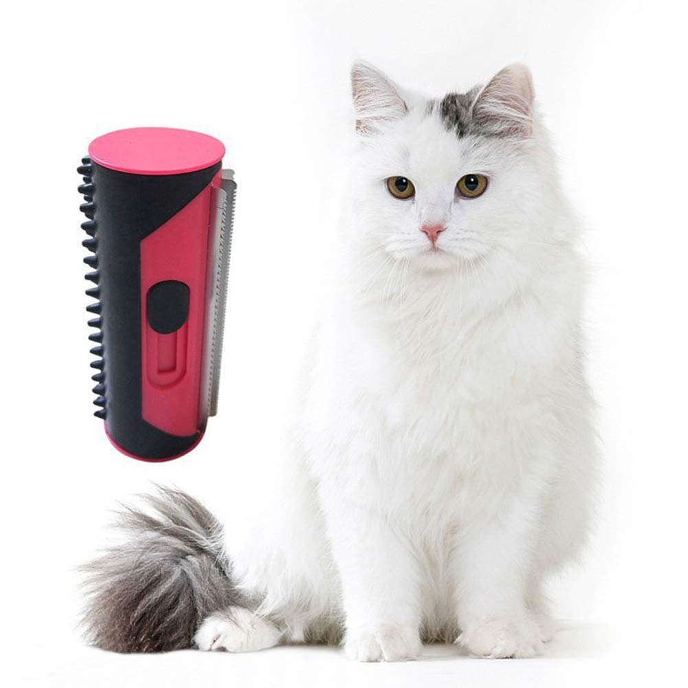 CRXL shop-Mantas Eléctricas Rollo removedor de Pelo para Mascotas, Herramienta de Aseo Multifuncional para Mascotas, Peine Multifuncional con Cepillo, Peine para la caspa, Gato Gato enrolla el Peine: Amazon.es: Hogar