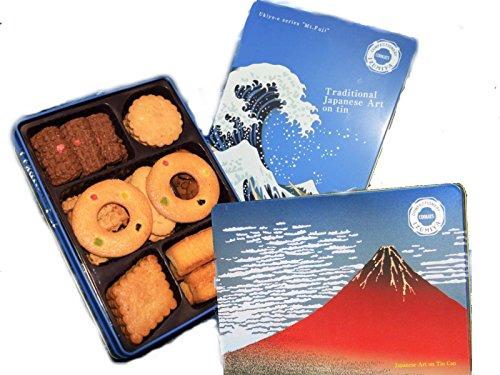 泉屋クッキー缶 2缶セット (富士山&赤富士(北斎)セット)