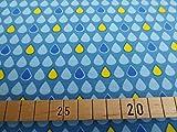 Jersey Regentropfen / 0,5m / Kinderstoff / 16,50€/m