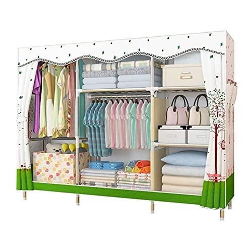 LYLY Armario plegable de tela Oxford, armario portátil, armario de almacenamiento de ropa, ahorra espacio, gabinete de almacenamiento de ropa (color: C)