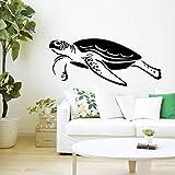 yaonuli Meeresschildkröte Schwimmmuster Wandbild Home Bad Vinyl Wandaufkleber Marine-Stil Aufkleber 36X40cm