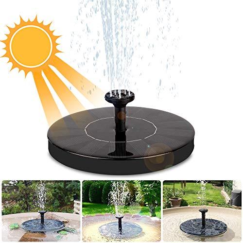 iKALULA Solar Springbrunnen, Solar Teichpumpe Outdoor Wasserpumpe Solar Pumpe Springbrunnen Energieeinsparung Solar Teichpumpe Springbrunnen für Gartenteich, Vogel-Bad, Fisch-Behälter, Kleiner Teich