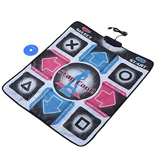 Dance Pad, Dance Mat Pad Blanket, Non Slip Dance Blanket Pad Durable Wear Resistant TV Dance Mat Pad Dancer Blanket USB Dancing Step Dance Mat Pad for PC Laptop Video Game