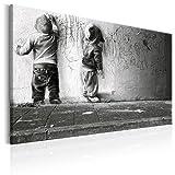 murando Impression sur Toile intissee 60x40 cm Tableau Tableaux Decoration Murale Photo Image Artistique Photographie Graphique 1 Piece Enfant Mural Banksy i-B-0024-b-b