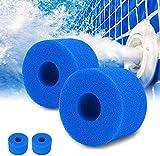 Filtro de espuma para piscina, 2 piezas de esponja filtrante tipo A, esponja de repuesto para filtro de piscina, filtro de piscina lavable, filtro de esponja, cartucho y filtro Spa Intex reutilizable.