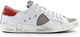 Luxury Fashion | Philippe Model Men PRLUVS02 White Leather Sneakers | Spring-summer 20