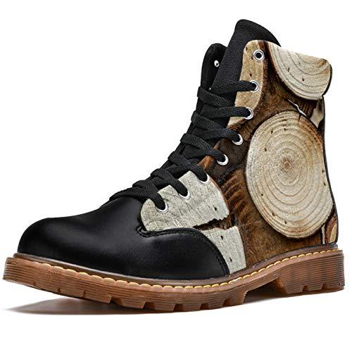 Anmarco Holzdrucke, hohe Schnürung, klassische Winterstiefel, Schulschuhe für Herren, Teenager, Jungen, - mehrfarbig - Größe: 42 1/3 EU