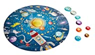 Start by completing the 100-piece puzzle of the solar system. Switch on the glowing LED sun and put it at the center of the solar system. Learn about the solar system with the double-sided poster. Model number: E1625