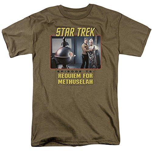 Trevco Camiseta masculina de manga curta Star Trek, Requiem Safari Green, XXG