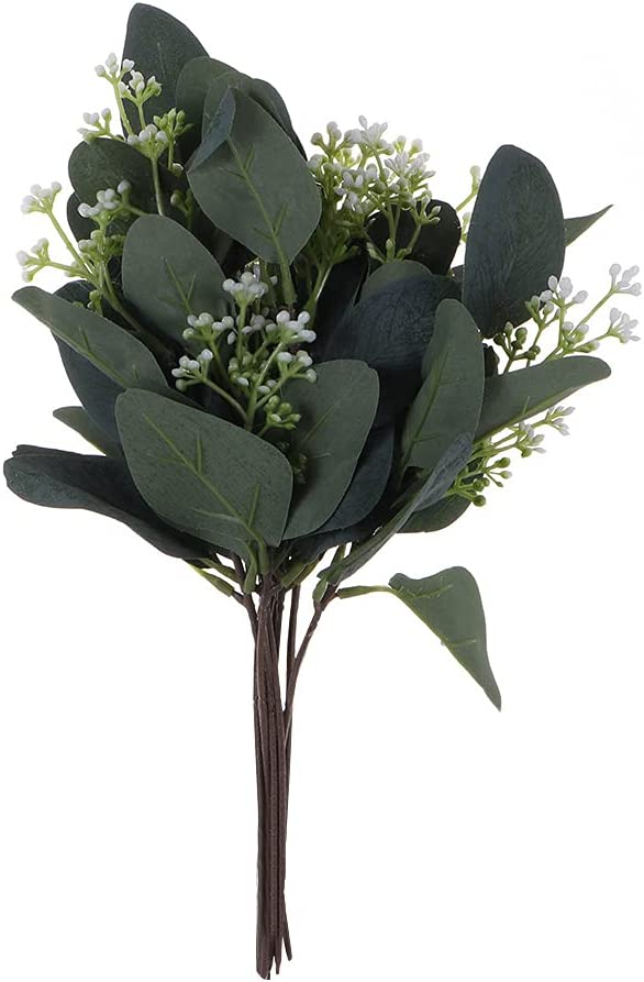 Zaofahua 10pcs Artificial Eucalyptus Stems Leaves Cheap mail order shopping Greenery 67% OFF of fixed price Faux