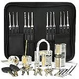 Kit de Crochetage Serrure, Preciva 26-Pièce Lock Picking Kit, Outils de D'entraînement avec 4 Serrure Transparente pour Serruriers Débutant et Pro