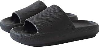 Cxypeng Classic Slide,Zapatillas de baño de baño con Fondo súper Grueso, Zapatos de elevación antideslizantes-40-41_Black,...