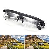 Reading Glasses & Eyeglasses Adjustable Focus Glasses -6.00 to +3.00 Non-Prescription Lenses for Nearsighted