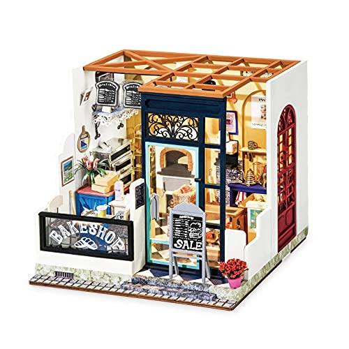 Robotime 3D Casa Miniatura delle Bambole Fai da Te con Accessori e mobili Adatti Regalo Creativo Ideale per Natale o Compleanni (Panetteria)