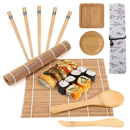 Smilcloud Kit de Sushi de 12 Piezas, Herramientas de Sushi Completas, Herramientas de Sushi Adecuadas Para Principiantes, Kit de Preparación de Sushi Simple y Profesional