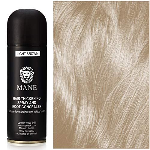Mane Spray épaississant- Hair Thickener - 200 ml - Light Brown (12 couleurs disponibles)