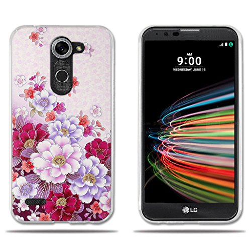 FUBAODA für LG X mach/X Fast/K600 Hülle, Transparente Silikon Clear TPU Slim Fit Shockproof Flexible Diamant Pattern Minimalistische Ultra Thin Lightest Boy Geschenke für LG X mach/X Fast/K600