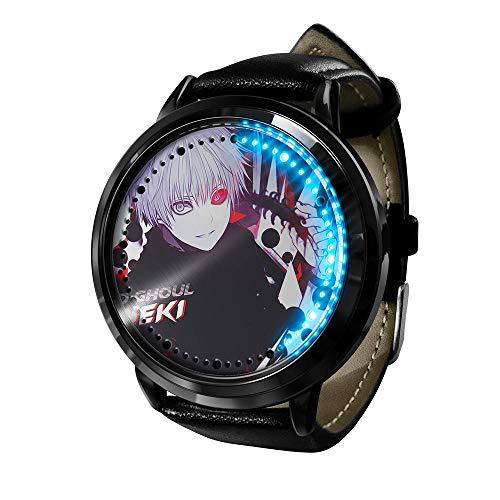 Reloj Tokyo Ghoul Reloj Pantalla táctil LED Impermeable Luz Digital Reloj Reloj de Pulsera Unisex Cosplay Regalo Nuevos Relojes de Pulsera niños-A4