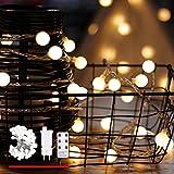 Lichterkette, von myCozyLite, LED Lichterkette mit Timer, Globe, Wasserdicht Stecker und Kabeldose, Weihnachtsbaum Deko (LED Globe Light Pack mit Fernbedienung)