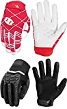 Seibertron B-A-R Gloves Red Youth M and S.P.B.G Gloves Black Youth M