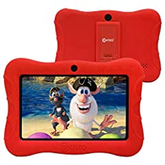 "✔【Powerful and Full-Featured Kid-Safe Tablet】Our kid-friendly tablet has the latest Android 9.0 Pie, 2GB RAM, faster 1.5GHz Quad-Core Processor, 16GB storage, a 7"" shatter-safe HD touch screen with a tough bumper, Bluetooth, dual web camera for video..."