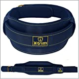 Xtrim Dura Belt-6 Inch Wide-Double Thick-Gym Fitness Weightlifting Belt-Heavy Duty Core-Washable-Stabilizing Thrusters Back