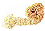 PunPund Belt Gold Plate White Stone Jewelry Chain Vintage Rattanakosin Period Thai Traditional Wedding Costume Women Accessory For Dress Skirt Sarong Gold Color Length 40 Inches 1 Piece