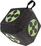 Denkmsd - Diana 3D de 6 lados, diseño de ballesta Dice Target Place de espuma 3D Target Training, diana con doble arco reutilizable, portátil, autocuración, apto para todos los arrow (verde)