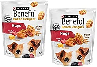 Purina Beneful Baked Delights Hugs Dog Treats - 8.5 oz. Pouch, Pack of 2