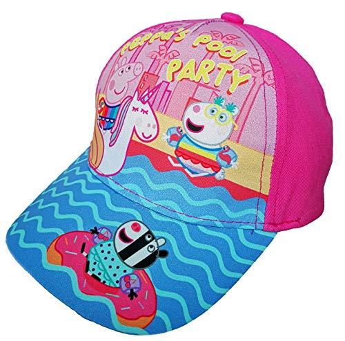 Peppa Wutz Cap Cappy Kappe Schirmmütze (Pink, Gr. 52)