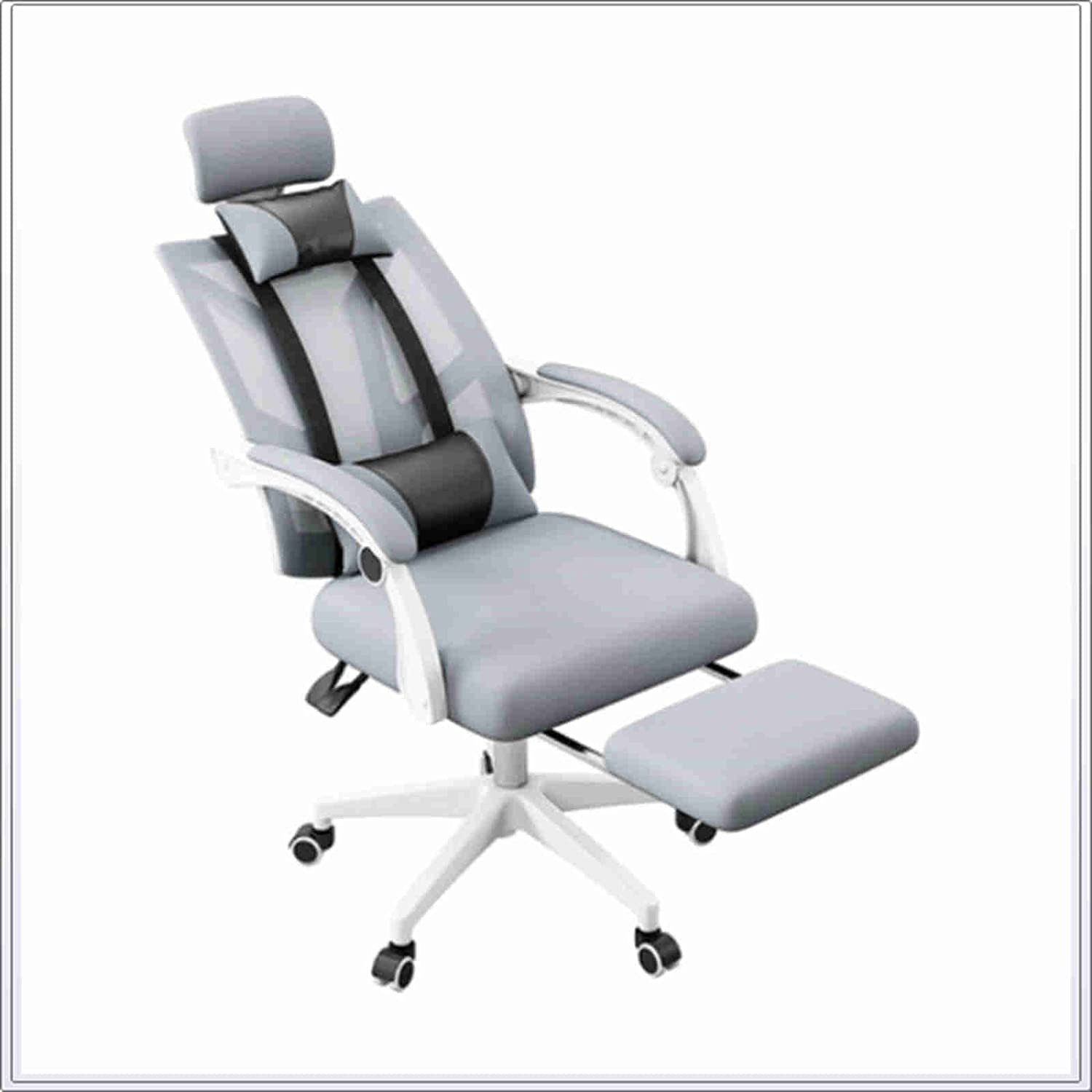 HQYXGS High Back Office Chair with Swivel Desk Save money Headrest Ch trust Mesh