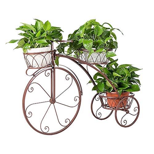 XYJNN Maceteros-macetas Balcon Soporte De Planta | Soporte De Maceta | Soporte De Planta Tipo Triciclo | Ideal para Terraza Jardín De Casa (Color : Brown)