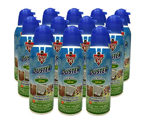 Dust-Off Falcon Professional Electronics Compressed Air Duster, 12 oz. cans, 12 Packs