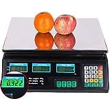 DYB Pesaje Digital 40Kg Pesaje Digital de Frutas Computación Escala de Precios electrónica para el hogar/Tienda, Verde