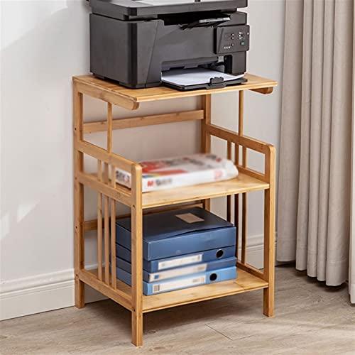 Soporte para Impresora Impresora de bambú Soporte Estante de piso Multi-capa Escritorio de la impresora de escritorio, utilizado en la máquina de la máquina de la mesa de la oficina de la oficina. Pri