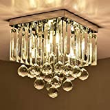 Discount4product Crystal Modern Chandeliers Lighting LED Ceiling Light Pendant Bulb Light Fixture, 35cm Diameter and Height :1.8 feet(Transparent)