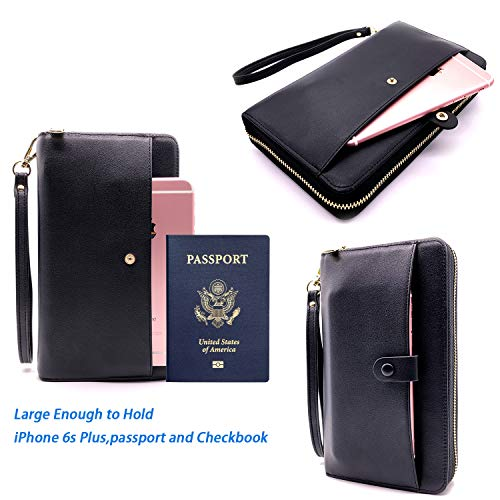 All-in-One Cash Envelopes Wallet Finances Organizer with 12 Budget Envelopes & Budget Sheets, PU Leather Wallet with Zip Phone Pocket Clutch Large Travel Purse Wristlet Hand Strap Maker Pen Photo #5