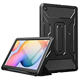 TiMOVO Funda Compatible con All-New Samsung Galaxy Tab S6 Lite 10.4 Inch 2020 (SM-P610/P615), Cubierta de Protección Completa Auto Sueño/Estela con Portalápiz para Galaxy Tab S6 Lite - Negro