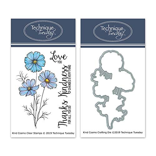Kind Cosmo Clear Stamps & Dies Bundle | Photopolymer Stamps | Clear Rubber Stamps | Matching Metal Dies | Die Cuts | Craft Dies | Cutting Dies