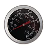 FLAWISH BBQ Barbecue Charcoal Grill Pit Wood Smoker Temperature Gauge Grill Pit Thermometer