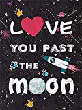5D Blackboard I Love You Past Moon Kit de pintura de diamante redondo para adultos bordado por números, lienzo para decoración de pared del hogar, 30 x 45 cm (o53)