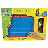 Simba Art&Fun Magnettafel im Koffer 100 Teile Kindertafel Buchstaben Zahlen Kinder Spielzeug Tafel -