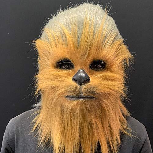 KHHK Casco Chewbacca Máscara de Star Wars Disfraz Disfraz Máscara Casco