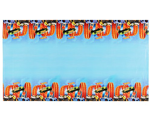 Amscan Hot Wheels Wild Racer Plastic Table Cover, Party Favor, 54' x 96', Multi Color