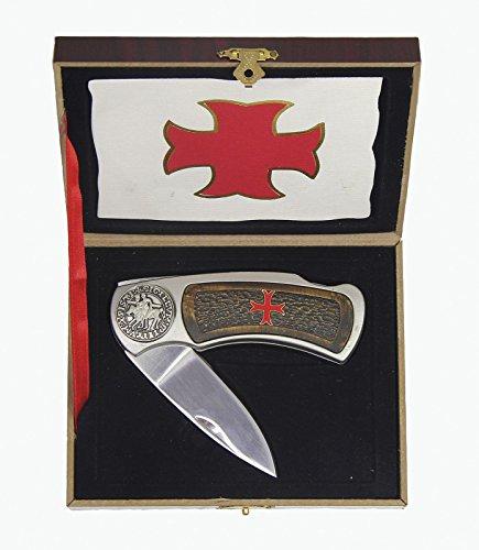 Taschenmesser Jagdmesser Messer Klappmesser Templerkreuz Messer Kreuz