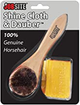 JobSite Genuine Horsehair Dauber Applicator Brush & Shoe Shine Polish Cloth