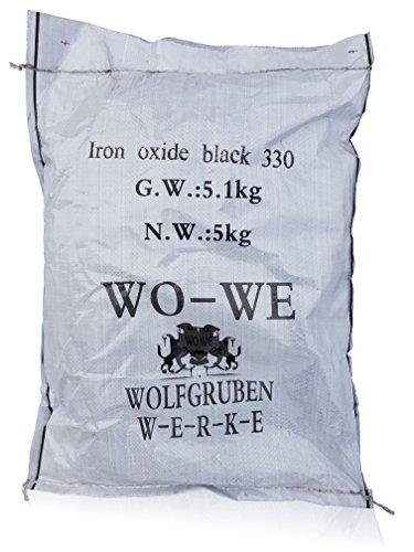 Pigmento per Cemento Polvere Colorante Ossido di Ferro Ceramica W120 Nero 25Kg